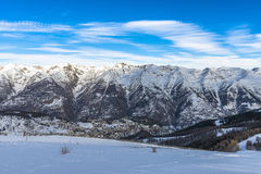 French Alps in Auron, South of France Royalty Free Stock Images