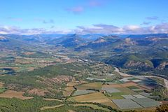 French Alps from the Chabre stock photography