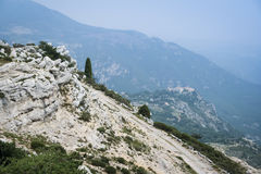 French alps Gourdon monastery cote d azur Royalty Free Stock Photography
