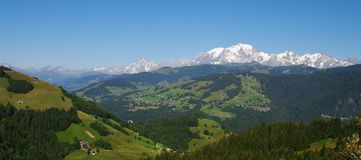 French alps landscape Royalty Free Stock Photo