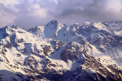 French alps landscape. The belledone mountain range in the French alps royalty free stock photos