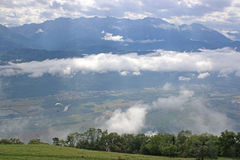 French Alps. Low cloud in the French Alps Stock Photos