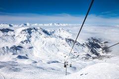 French Alps in Meribel Stock Photos