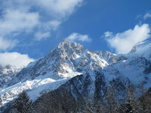 French Alps mountains. Beautiful snow-capped French Alps mountains Royalty Free Stock Images