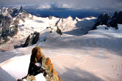 French Alps. The french Alps near Chamonix and the Mont-Blanc Stock Photos