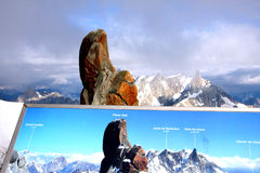 French Alps. The french Alps near Chamonix and the Mont-Blanc Royalty Free Stock Images