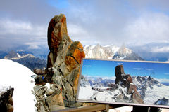 French Alps. The french Alps near Chamonix and the Mont-Blanc Stock Photography