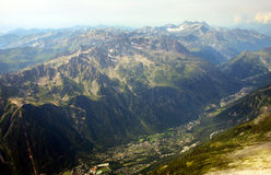 French Alps. The Alps are one of the great mountain range systems of Europe stretching approximately 1,200 kilometres (750 mi) across eight Alpine countries Stock Photography