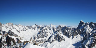 French alps panorama from Aiguille du midi station Stock Image