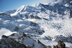 French alps panorama from Aiguille du midi station Stock Photo