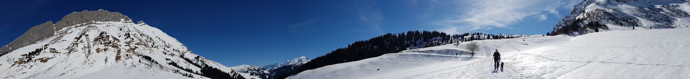 French Alps panoramic Royalty Free Stock Photo