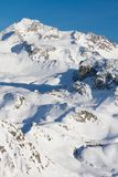 French Alps ski resort Royalty Free Stock Photo