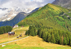 French Alps on summer Stock Photos