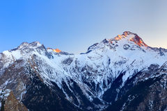 French Alps at sunset Royalty Free Stock Images