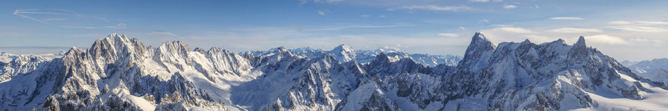 French Alps as seen from Aiguille du Midi Royalty Free Stock Photos