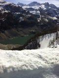 French Alps tignes dam. Mountain view tignes France dam Royalty Free Stock Image