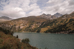 French Alps, Vanoise mountains, lake, dam Stock Photography