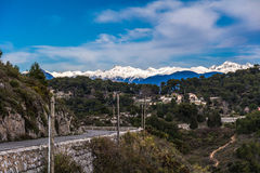 French Alps. View of The French Alps Royalty Free Stock Image