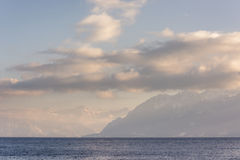 French Alps view from Lausanne Switzerland Stock Image