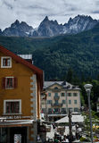 French Alps village royalty free stock images