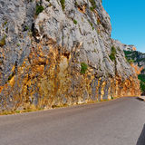 French Alps. Winding Asphalt Road in the French Alps Royalty Free Stock Photo
