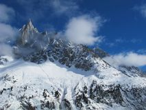 French Alps in winter, Chamonix Royalty Free Stock Photo