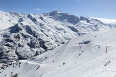 French Alps winter Royalty Free Stock Photography