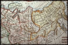 Old Russian map Stock Photography