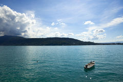 French Annecy lake Royalty Free Stock Photos