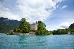 French Annecy lake Royalty Free Stock Photography