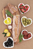 French Antipasti Feast Royalty Free Stock Images