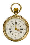 French Antique Pocket Watch Isolated Royalty Free Stock Images