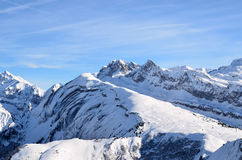 French Apls. French Alps in winter on January 2011 Royalty Free Stock Photo