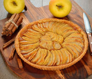 French apple tart Stock Photos