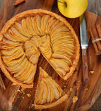 French apple tart Royalty Free Stock Image