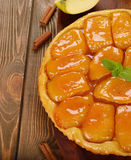 French apple tart Royalty Free Stock Photos