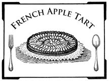 French apple tart, vintage engraving Stock Photo