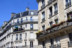 French architectural style. Ordinary buildings showing Parisian French architectural style Stock Photos