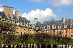 French architecture, houses in Paris Stock Image