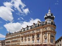 French architecture in Montpellier Royalty Free Stock Photo