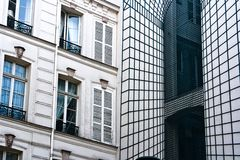 French Architecture new old an illusion Royalty Free Stock Images