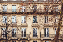 French Architecture with Typical Windows Royalty Free Stock Photo