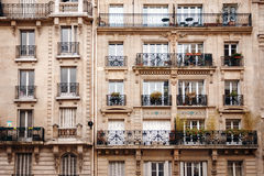 French Architecture with Typical Windows Stock Photography
