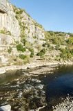 The french Ardeche river. A famous place for canoeing Stock Photos