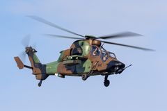French Army Armee De Terre Eurocopter EC665 Tiger attack helicopter stock photos