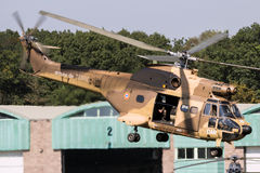 French Army Puma helicopter desert royalty free stock photo