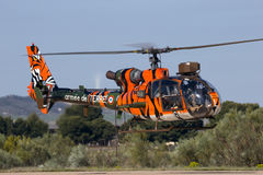 French Army tiger SA341 Gazelle military helicopter Stock Images