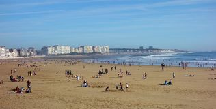 French Atlantic Beach Vacation Time Royalty Free Stock Photography