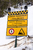 French avalanche danger sign Royalty Free Stock Photography