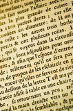 French background text. A page of antique French background text Royalty Free Stock Images